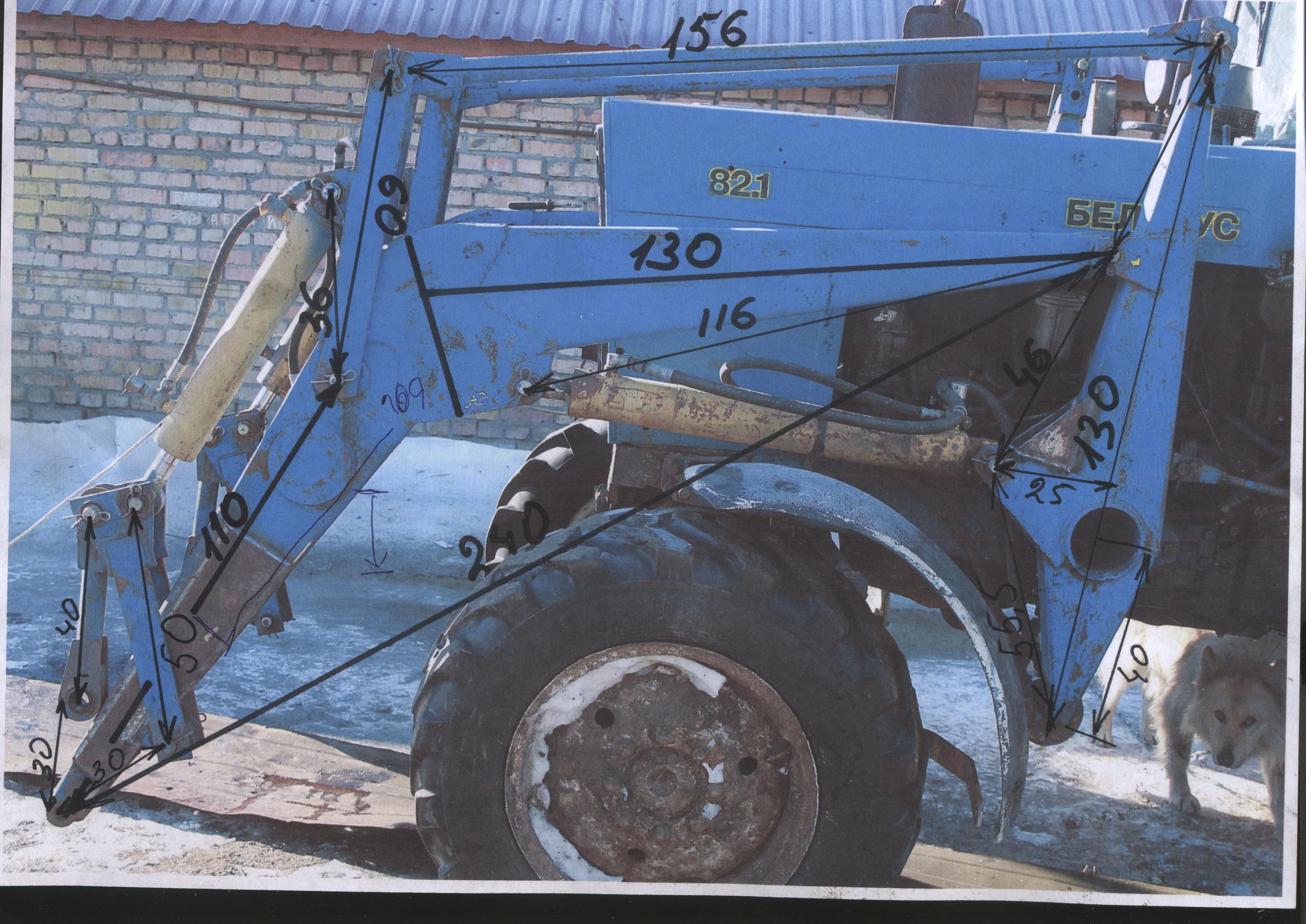 Самодельный кун сзади на трактор МТЗ-82 24