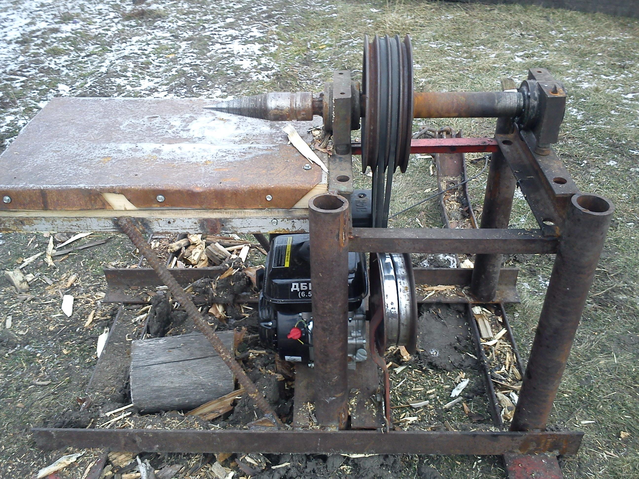 Механический (пружинный) дровокол своими руками: чертежи 20