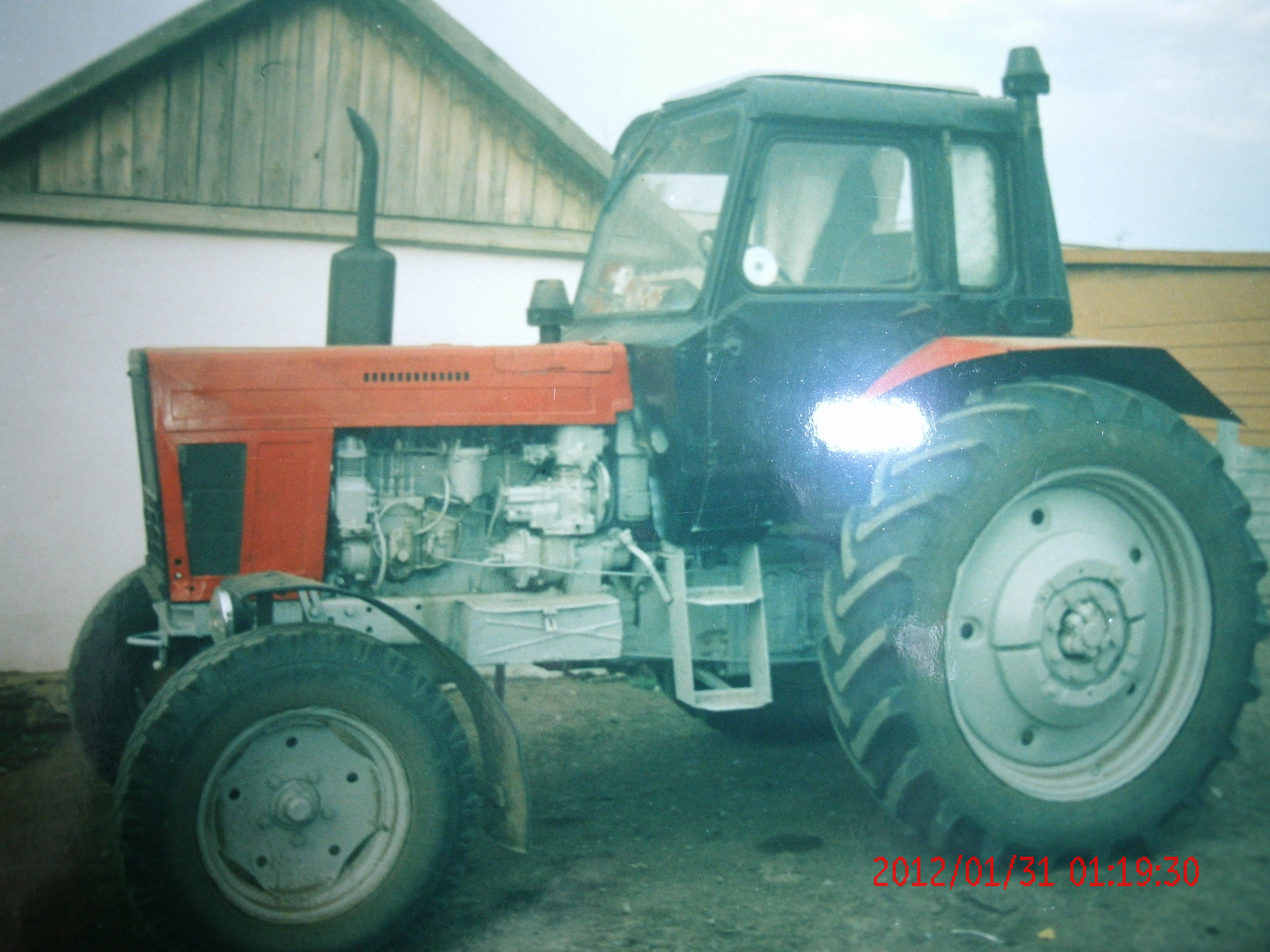 Кабина от трактора МТЗ 50 после покраски - YouTube
