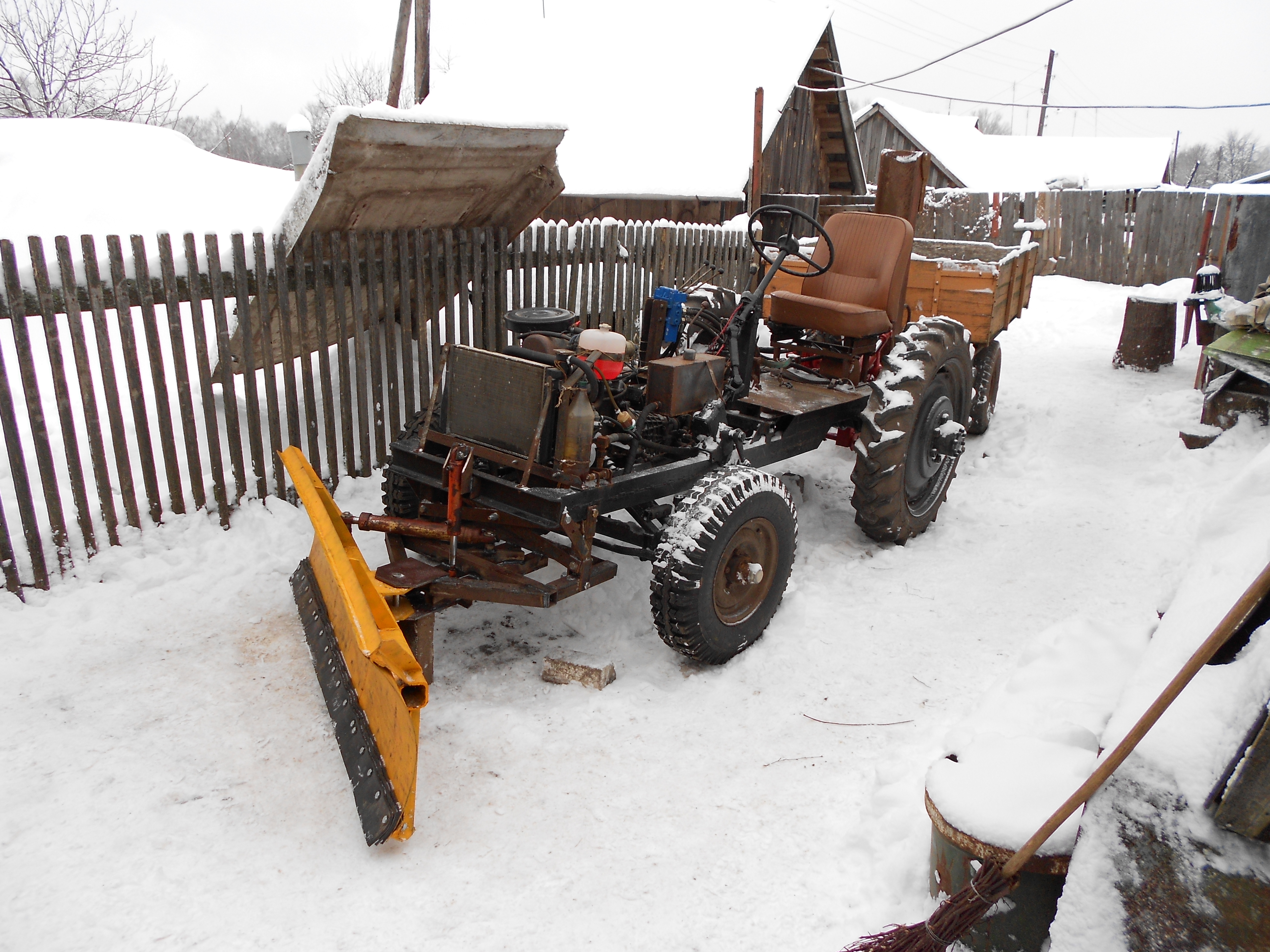 фото самоделки трактора с отвалом вовсе непременно искать
