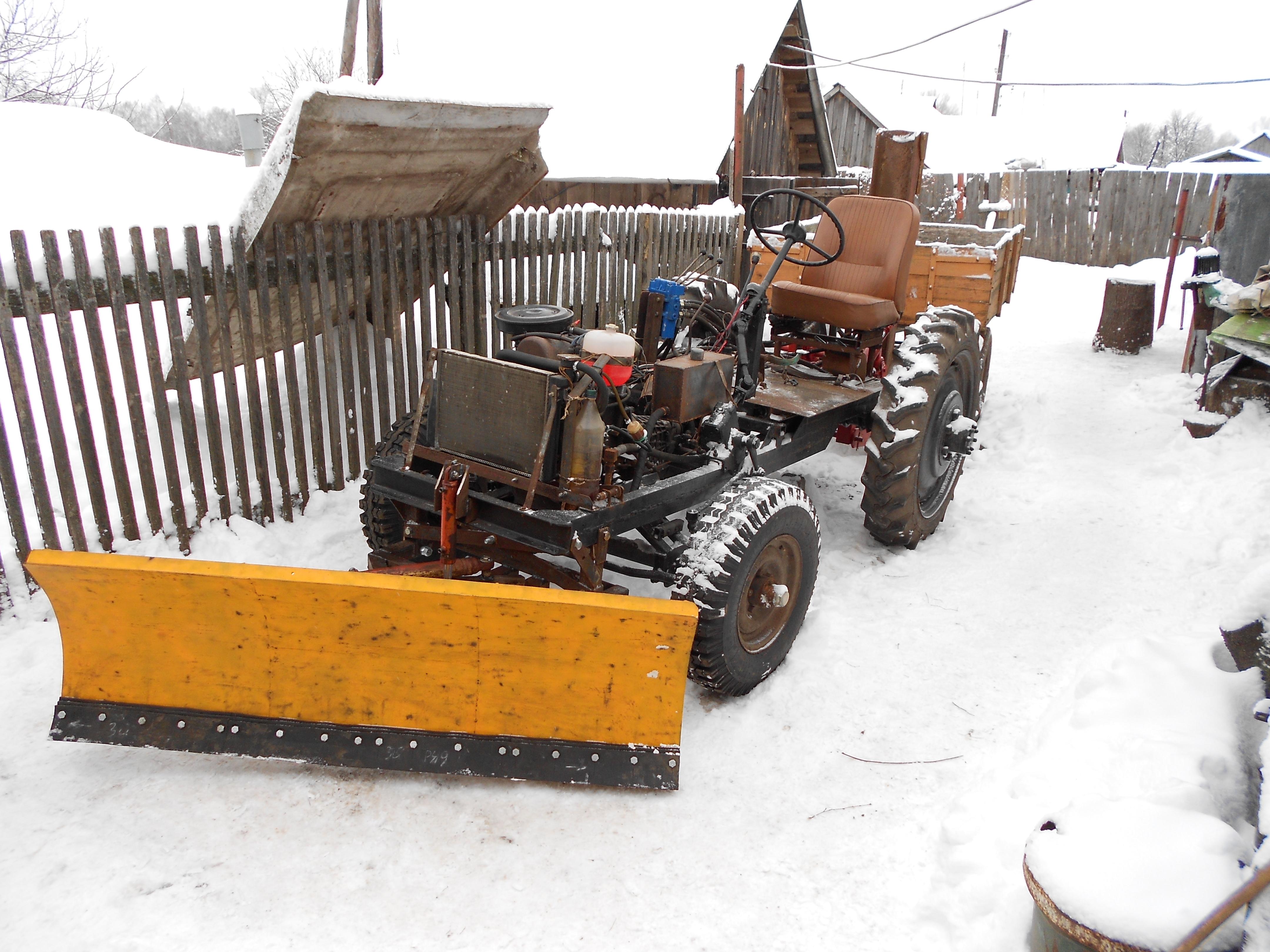 фото самоделки трактора с отвалом научим